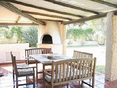 Undercover BBQ veranda. (or Braai Stoep as it's known in SA)   Because we still love to braai (bbq) when it's raining.