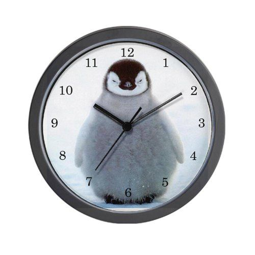 Special Offers - CafePress Penguin Clock Wall Clock  Standard Multi-color - In stock & Free Shipping. You can save more money! Check It (April 27 2016 at 05:03PM) >> http://wallclockusa.net/cafepress-penguin-clock-wall-clock-standard-multi-color/