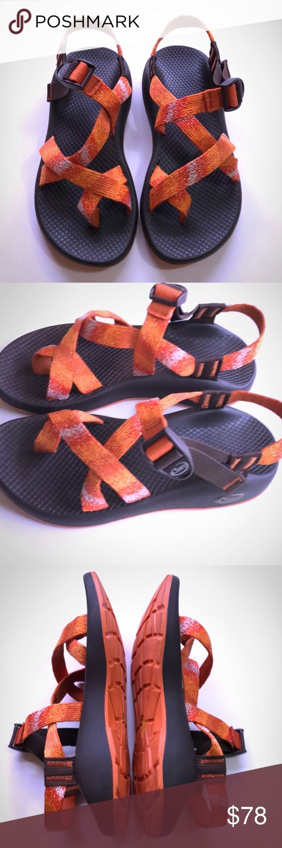 ⚡FLASH SALE⚡EUC Chaco orange sandals EUC Orange Chaco z2 Yampa sandals. These are a size 7 women's. Chaco Shoes Sandals