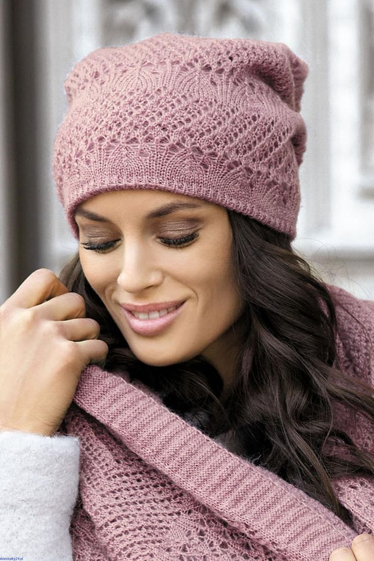 Ciepła czapka delikatna i elegancka Ivonna