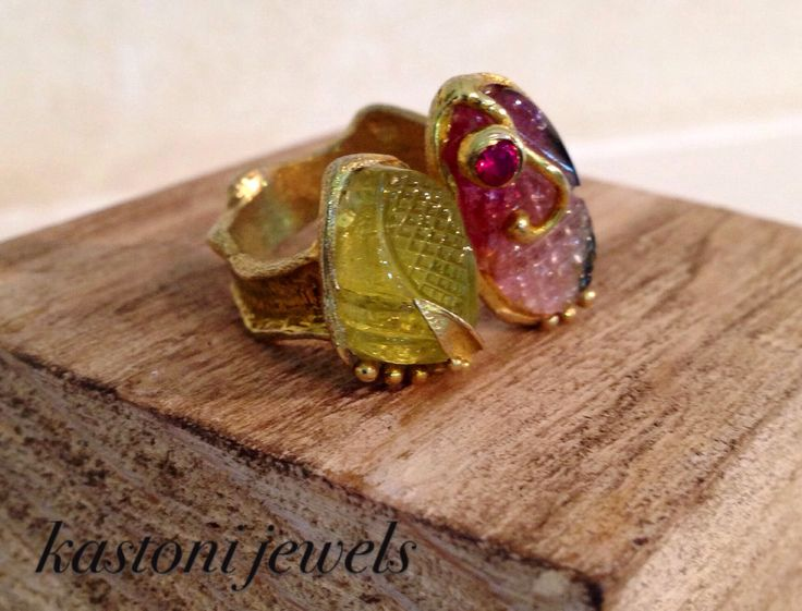 #ring #handmade #Greece #jewelry #tourmaline #gemstones #www.facebook.com/kastonijewels
