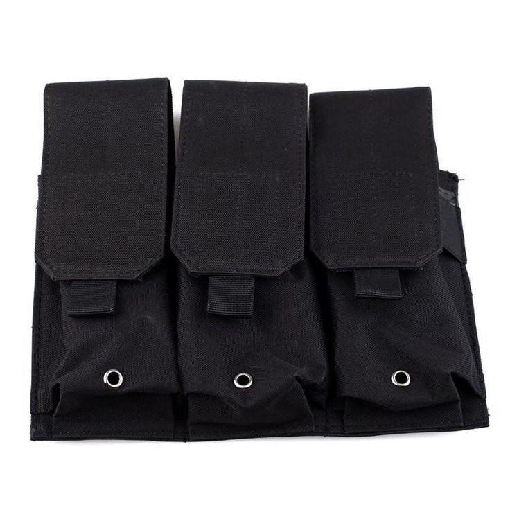 Triple M4 MOLLE MAG Pouch - BLACK