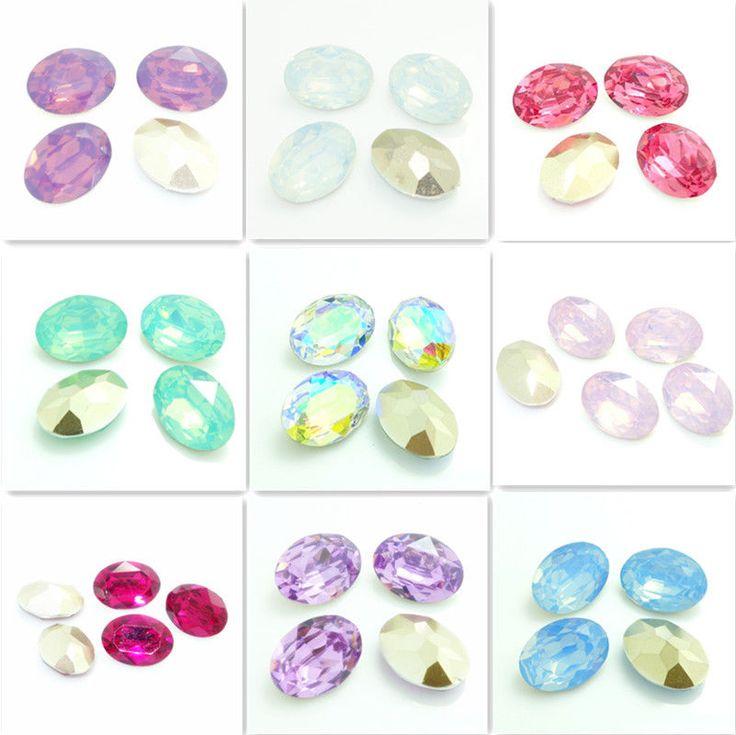 Wholesale 10PCS oval Resin Rhinestone beads 18X25mm diy hot