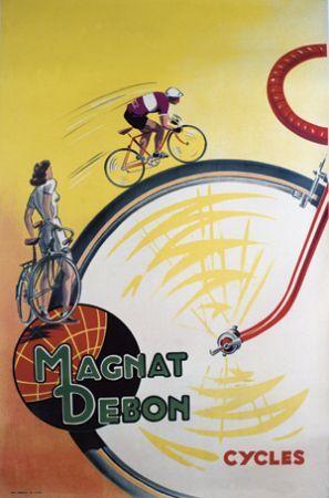 Magnat Debon Bicycle Vintage Poster Art Print