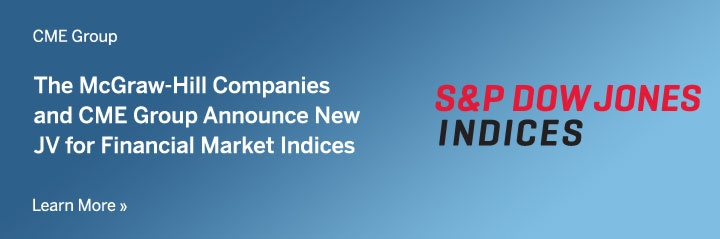 CME Group and the McGraw Hill companies announce new JV for financial market indices.
