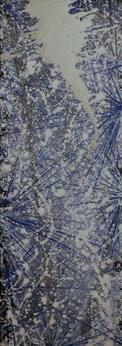 """""""Star-Sirius""""  Acrylic on canvas and silver  20/60 cm  2016  Created by Anda Anastasopoulou"""