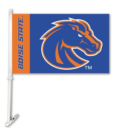 Look at this #zulilyfind! Boise State Broncos Car Flag & Wall Bracket #zulilyfinds