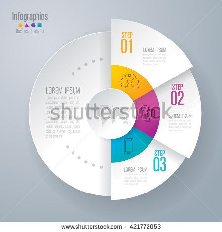 Infographic design template can be used for workflow layout, diagram, number options, web design. Infographic business concept with 3 options, parts, steps or processes. Abstract background. - stock vector