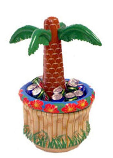 Aufblasbare Palme mit Kühlbehälter