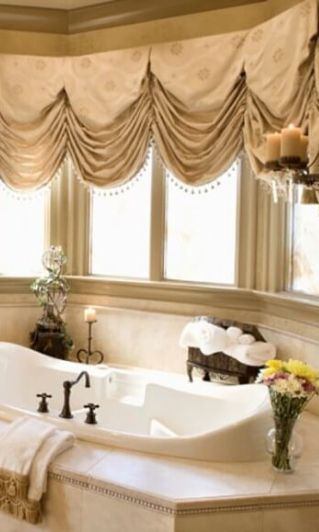 17 best images about cornices valances on pinterest for Master bathroom window ideas