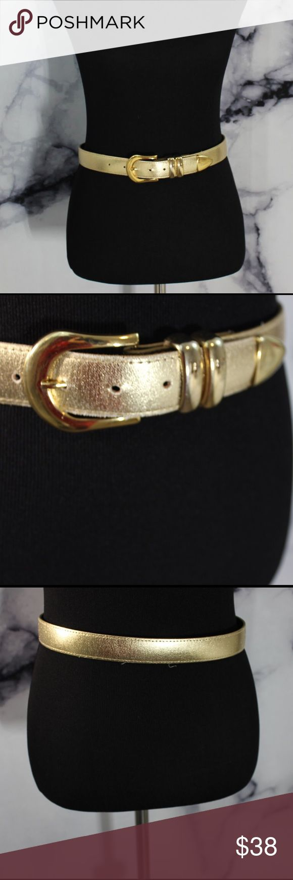 Vintage Gold Belt Gorgeous belt. Women's M shown on A M size dress form. Excellent condition. Comment for measurements! Please ask us any questions you may have! We are fast to respond! 👯Ships same day M-Sat! Vintage Accessories Belts