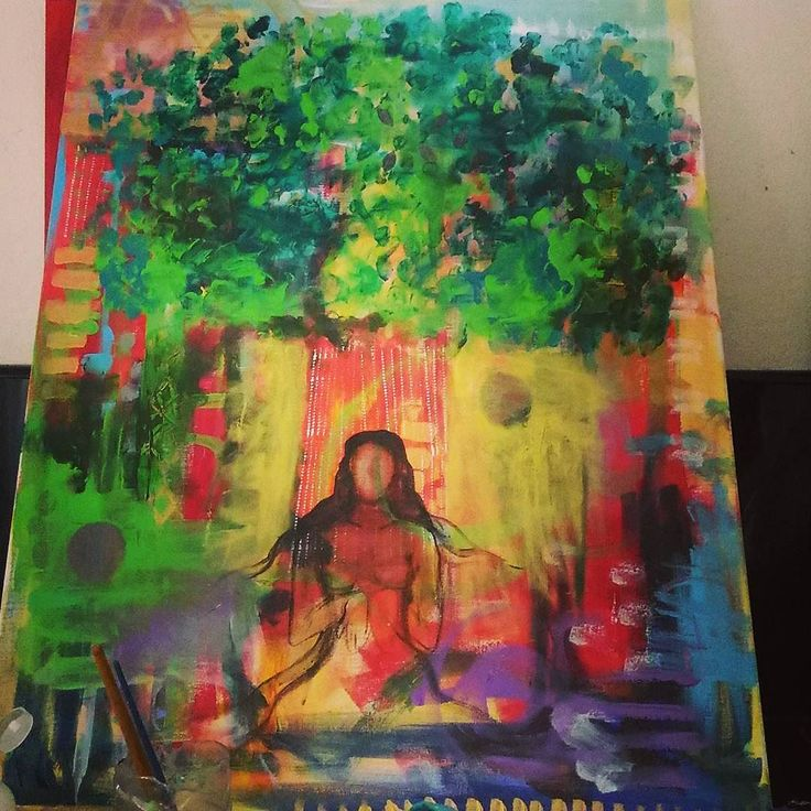 #paintyourselfasatree #heARTspace #intuition #intuitivepainting #tree #art #arttherapy #flow #vision #itshappening #arteveryday #instaart
