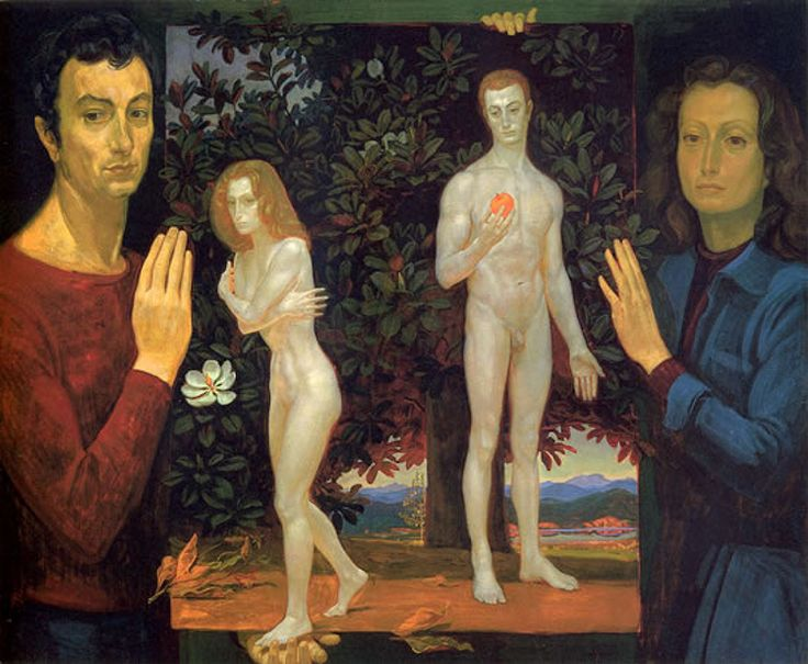 "Dmitri Zhilinsky, ""Adam and Eve"""