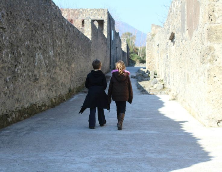 Walking the streets of Pompeii, Italy.