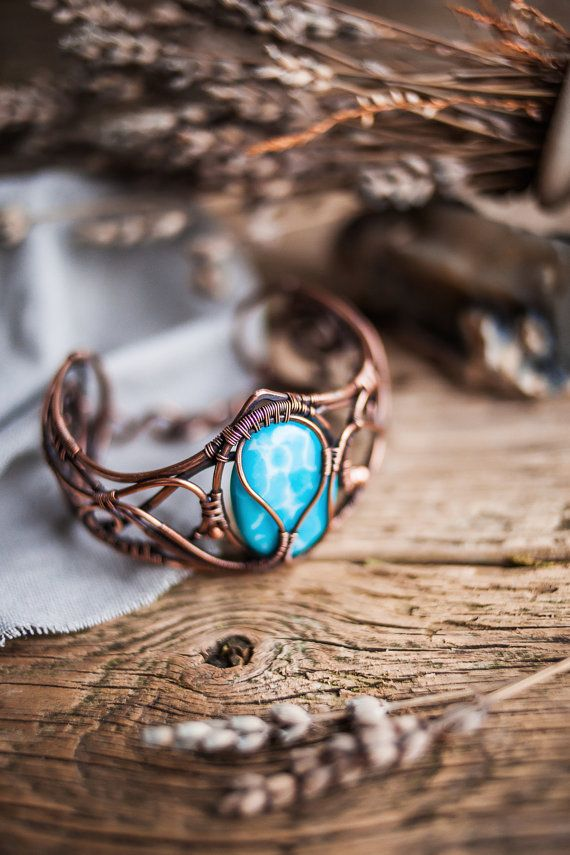Copper bracelet Wire bracelet Wire jewelry by UrsulaJewelry