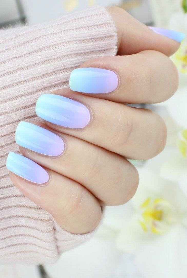 31+ Ideeën voor glamour en schattige ombre nagels ontwerpen voor 2019 deel 19