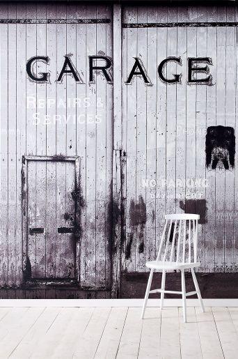 Wallpaper by ellos Garage-tapetti