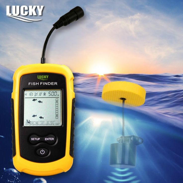 Lucky FF1108-1 Portable Sonar Alarm Fish Finder Echo Sounder 0.7-100M Transducer Sensor Depth Finder with Russian manual #B3 //Price: $69.99 & FREE Shipping //     #hunting #camping #outdoors #pocketdump #knives #knifeporn