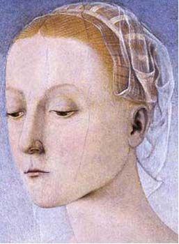 Piero della Francesca - Madonna col Bambino, dettaglio - Collezione Vittorio Cini, Venezia