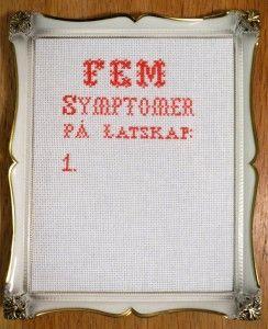 Geriljabroderi - Fem symptomer på latskap: 1. - Broderings kit fra Stygge Sting