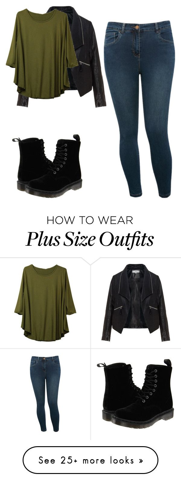 """""""Untitled #216"""" by summerxspencer on Polyvore featuring Zizzi, M&Co and Dr. Martens"""
