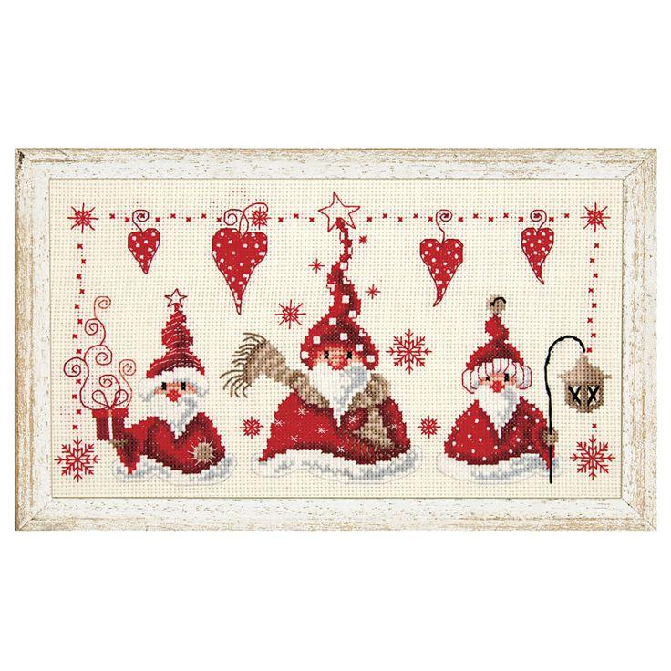 Christmas Gnomes - Cross Stitch, Needlepoint, Stitchery, and Embroidery Kits, Projects, and Needlecraft Tools | Stitchery