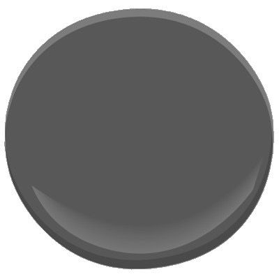 "My favorite dark gray paint color for kitchen cabinets is Benjamin Moore ""Gray."" It's a true gray that is consistent in tone in varying lighting."