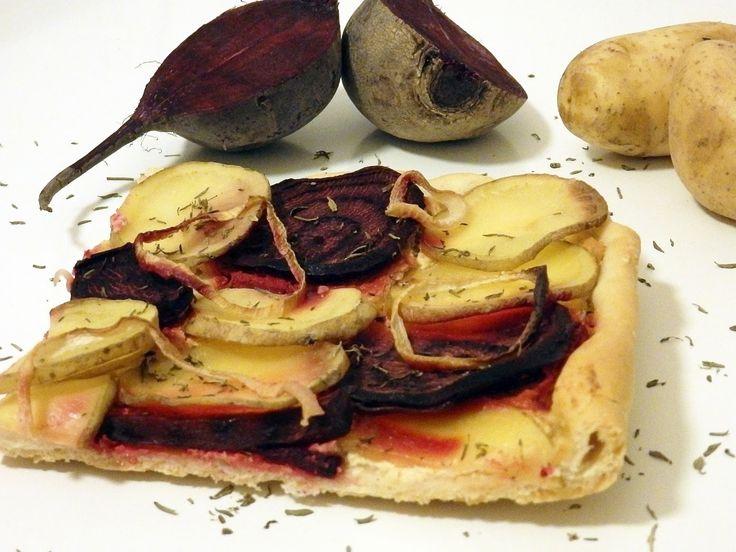 Beetroot and potatoe cake