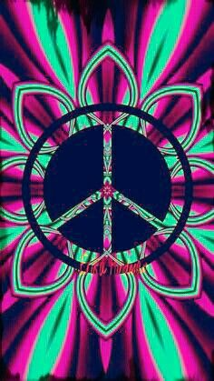 ☮ American Hippie Art ☮ Pattern Design Wallpaper .. Peace Sign