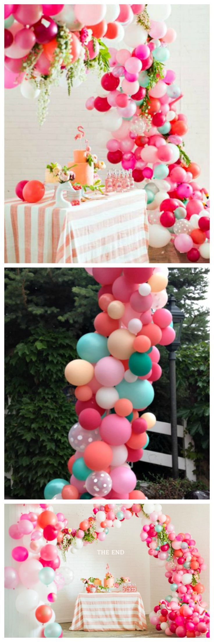 Balloon arch for wedding - Balloon Arch Tutorial So Gorgeous And Festive For Any Party