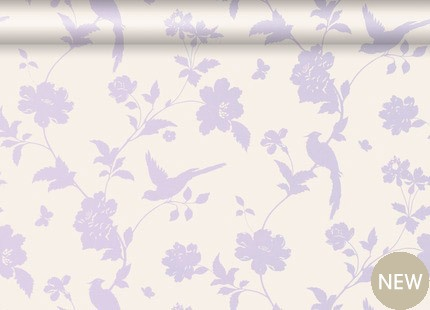 Laura Ashley wallpaper- the feature wall in the bedroom <3