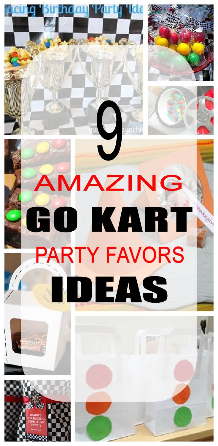 Go kart birthday party favors! 9 awesome go kart party favors for kids including racing cones, race cars, checkered flags, racing trophies, matchbox car gift boxes, goodie bags and more! You can even make diy go kart party favors. Best go kart party favor ideas that children will want to take home.