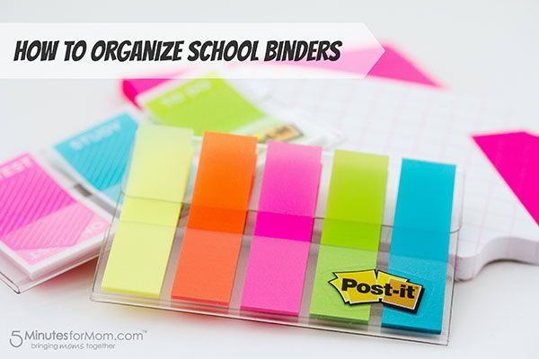 This is Janice, co-founder of 5 Minutes for Mom, with some tips on organizing school binders. This post is part of a sponsored campaign with Post-it Brand, but my enthusiasm, opinions, and decades of dependence …