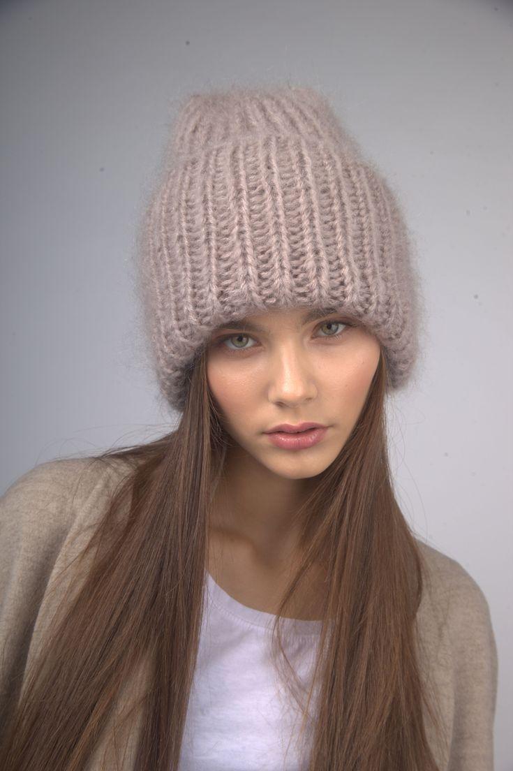 Шапка Double hat, мохер. 70 мохер, 30 акрил | «Ламбада-маркет»