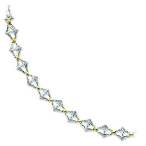 Sterling Silver & Gold-plated Bracelet of Faith 7.5in Cross Bracelet. Jewelrypot. $94.99. All Genuine Diamonds, Gemstones, Materials, and Precious Metals. Fabulous Promotions and Discounts!. Your item will be shipped the same or next weekday!. 100% Satisfaction Guarantee. Questions? Call 866-923-4446. 30 Day Money Back Guarantee