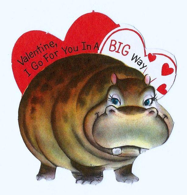 Vintage Valentine Day Card, Valentine, I Go For You In A Big Way, Hallmark Cards, Circa 1963   Flickr - Photo Sharing!