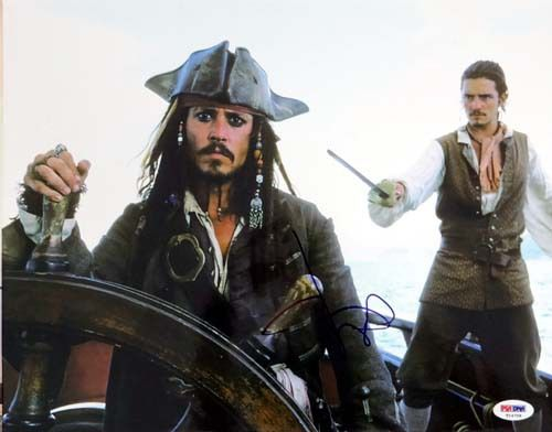 Johnny Depp Autographed 11x14 Photo Pirates of the Caribbean PSA/DNA #T14706