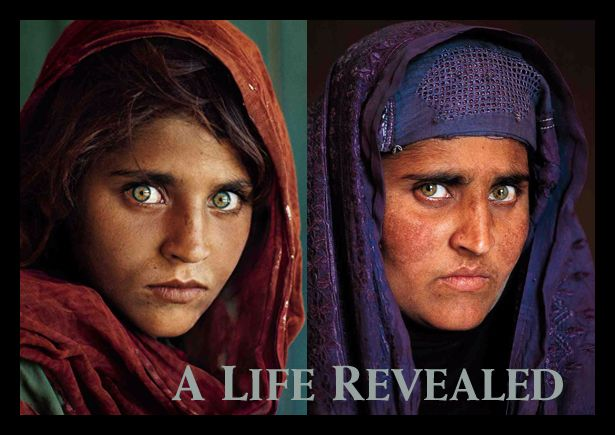 Seventeen years after she stared out from the cover of National Geographic, a former Afghan refugee comes face-to-face with the world once more. Photographer: Steve McCurry.  See more of the story here:  http://ngm.nationalgeographic.com/2002/04/afghan-girl/mccurry-photography
