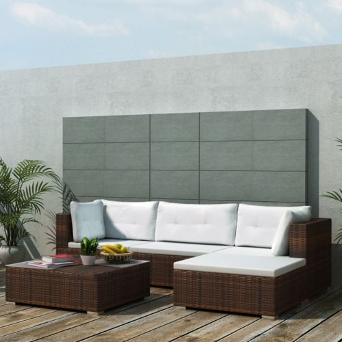 Poly Rattan Gartenmöbel Set Garten Sofa Lounge Sitzgruppe Gartengarnitur#