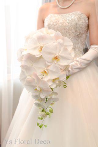 前回ご紹介しました胡蝶蘭のキャスケードブーケをお持ちくださった新婦さんの当日のご様子をご紹介いたします。チャペルをおとうさまとあゆまれる新婦さま。(お顔出...