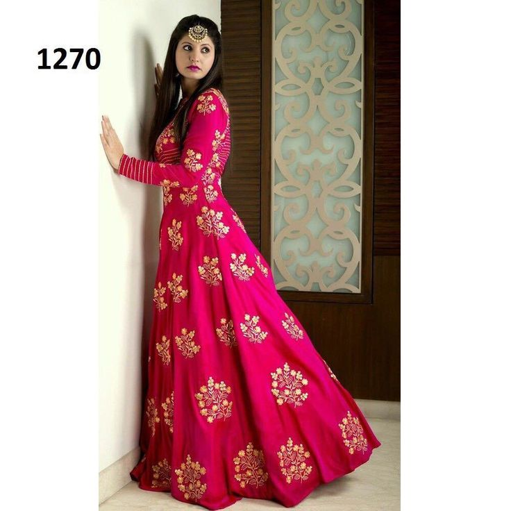 Designer Anarkali Salwar Kameez Indian Pakistani Party Wedding Dress AK 1270. #FashionBazar #DesignerAnarkaliSuit
