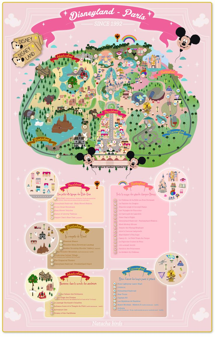 La carte de Disneyland Paris à télécharger et des fonds d'écran ! - Natacha Birds