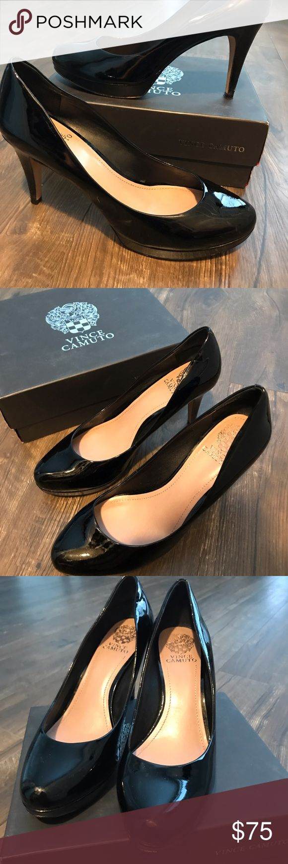 Vince Camuto Black Patent High Heels Vince Camuto Black Patent high heels with half inch platform. 3 inch heel. Mint condition. Vince Camuto Shoes Heels