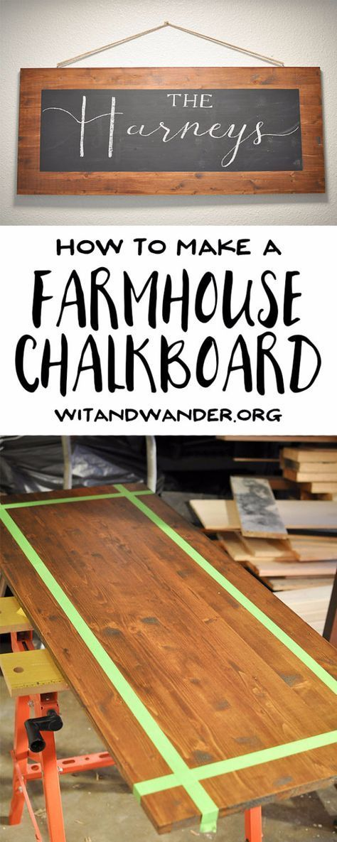 41 Extra DIY Farmhouse Model Decor Concepts – DIY Rustic Farmhouse Chalkboard – Crea…