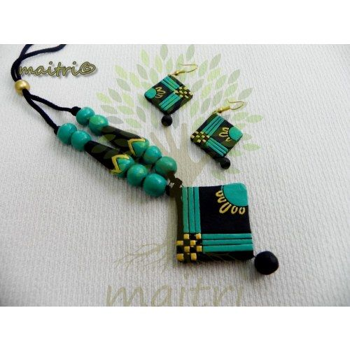 Terracotta Traditional Jewellery - Cyan Blue Beauty https://www.facebook.com/maitricrafts.maitri https://www.facebook.com/maitricrafts. maitri_crafts@yahoo.com