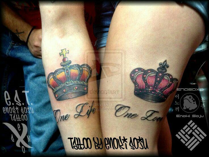 48 besten p rchen tattoos bilder auf pinterest tattoos f r paare paar tattoos und paar tattoo. Black Bedroom Furniture Sets. Home Design Ideas
