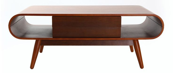 Mesa de centro escandinava madera nogal BALTIK