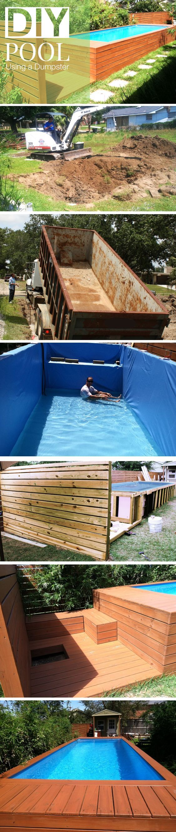 Diy dumpster pool pinterest dumpster for What s the best above ground pool