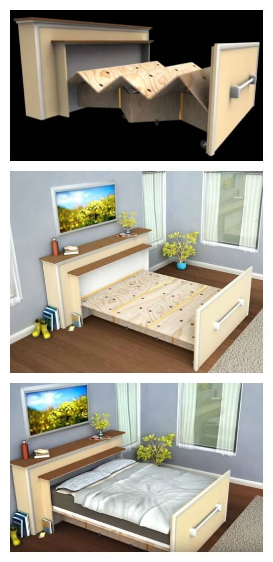 Make a DIY Built-in Roll-out Bed You Have Never Thought of (Video)
