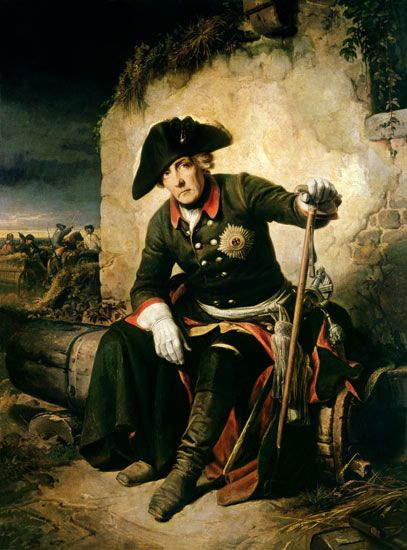 Frederick the Great after the Battle of Kolin: picture by Julius Schrader